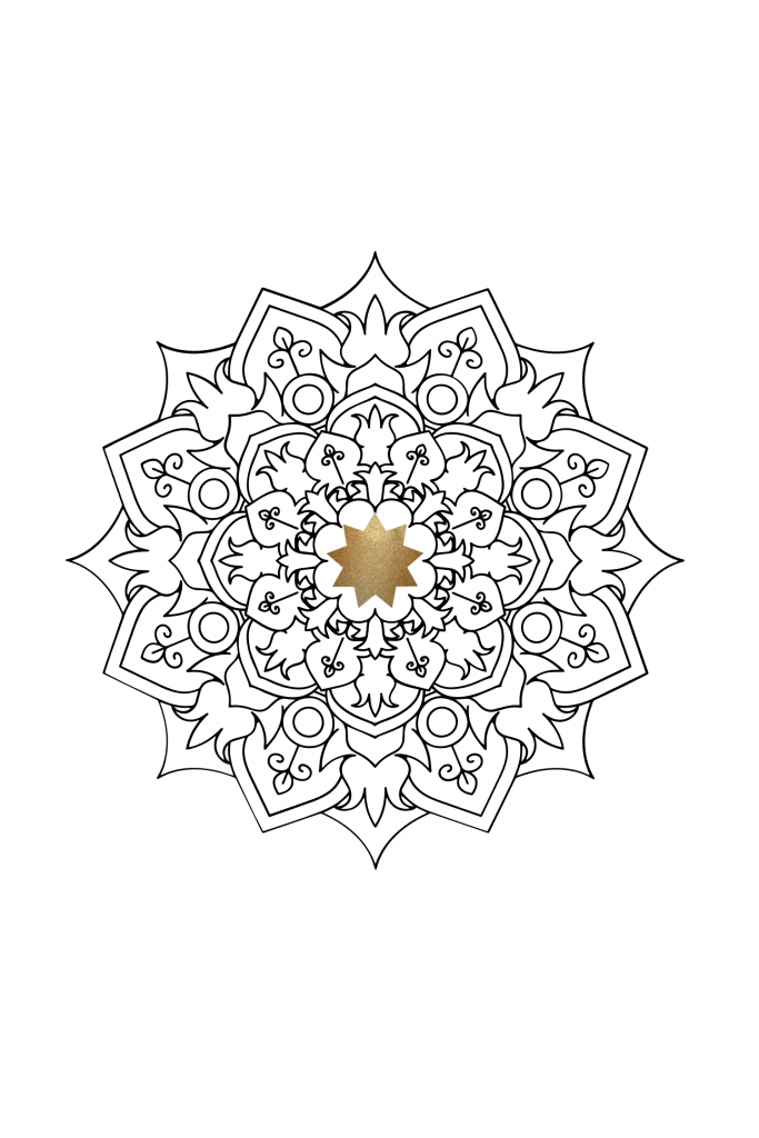 mandala with nine pointed star
