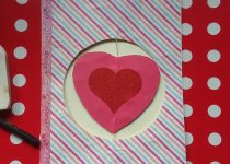 Finished card with decorations