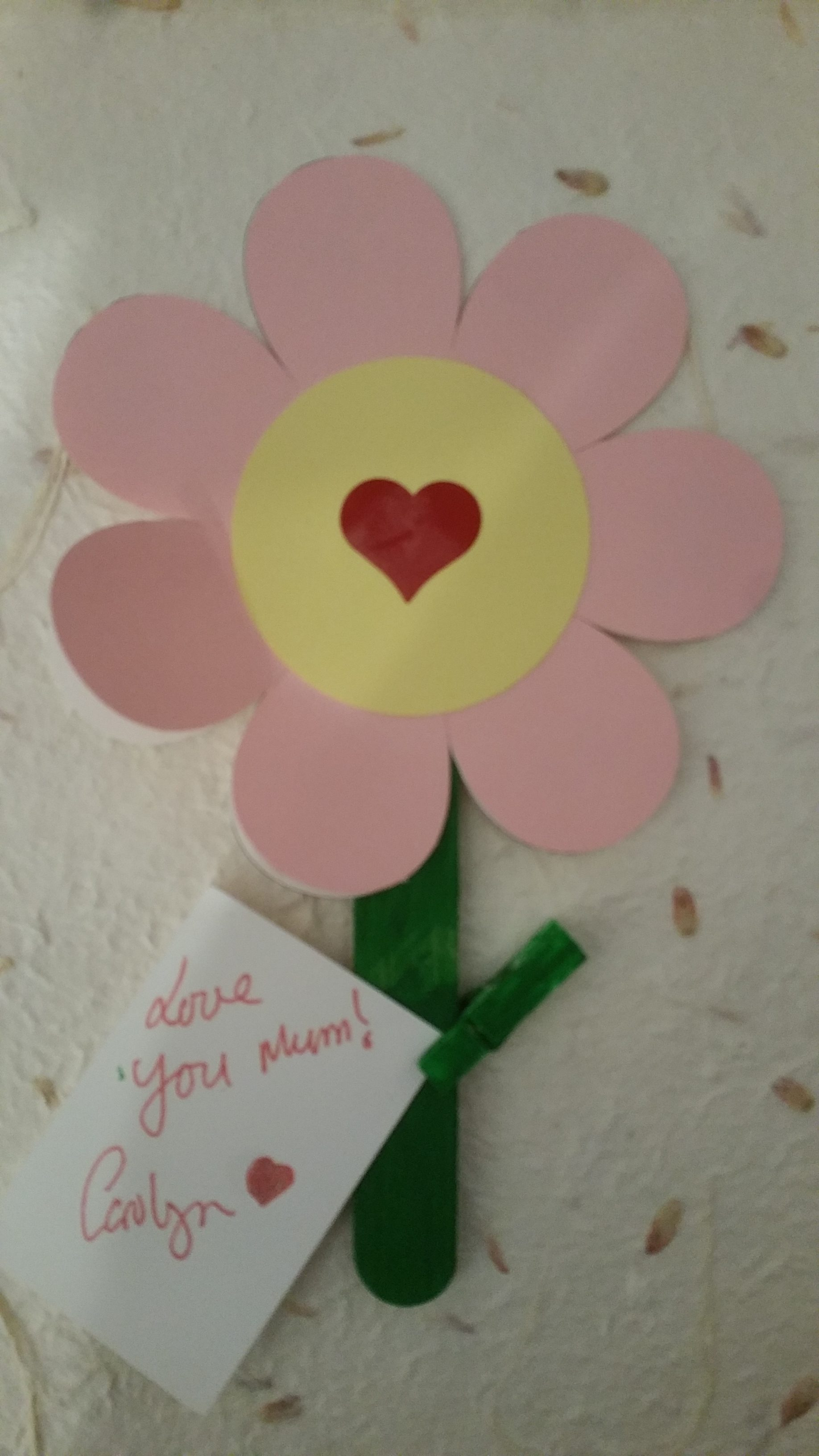Finished Flower card for mothers day