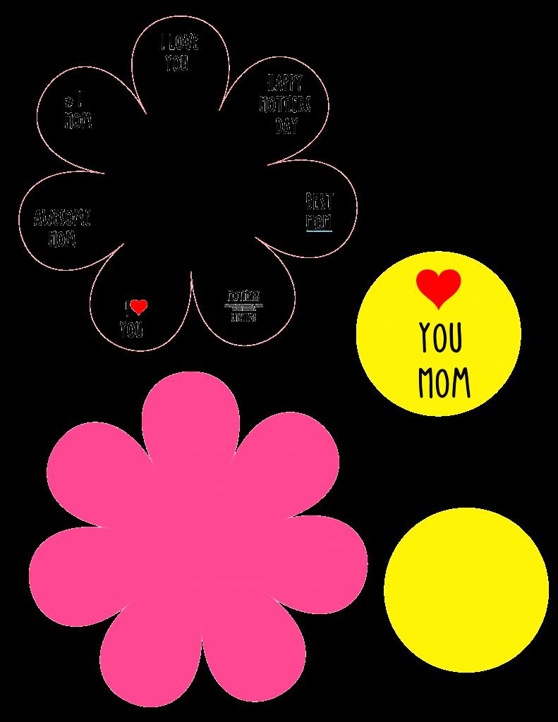 Flower Card spelling MOM