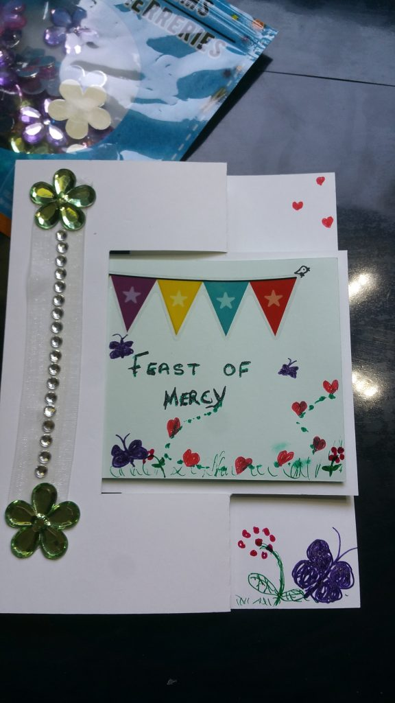front of card folded flat