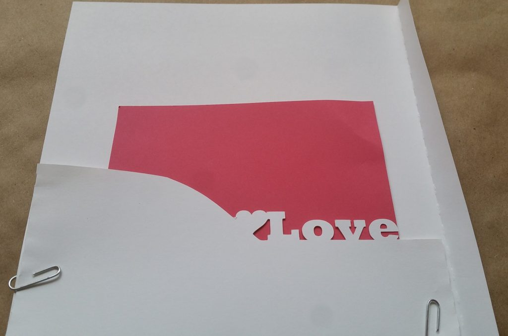 "second envelope with ""love"" welded on"