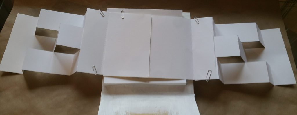 opened double trifold page