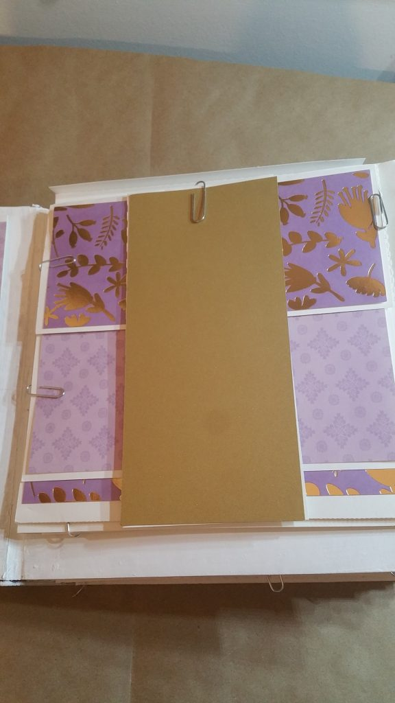 Layout with belly band and all pages closed