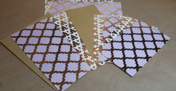 Layout: Matting all flaps and envelopes