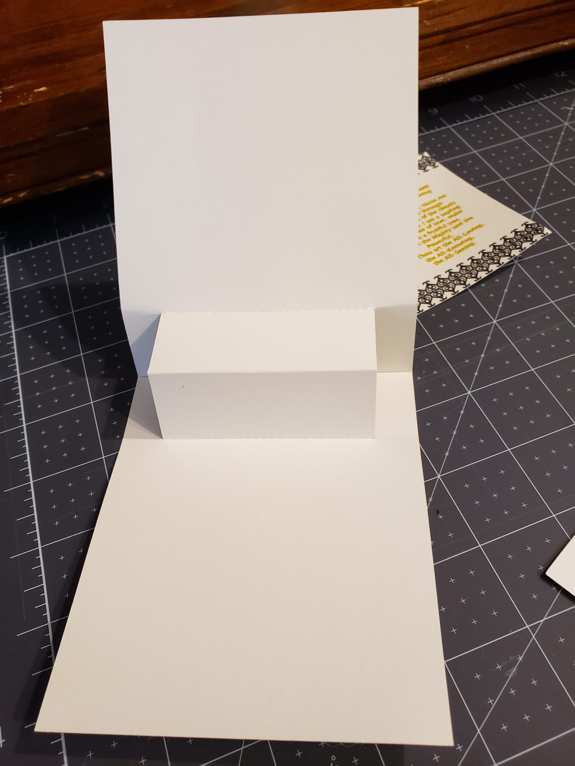 front view of popup card