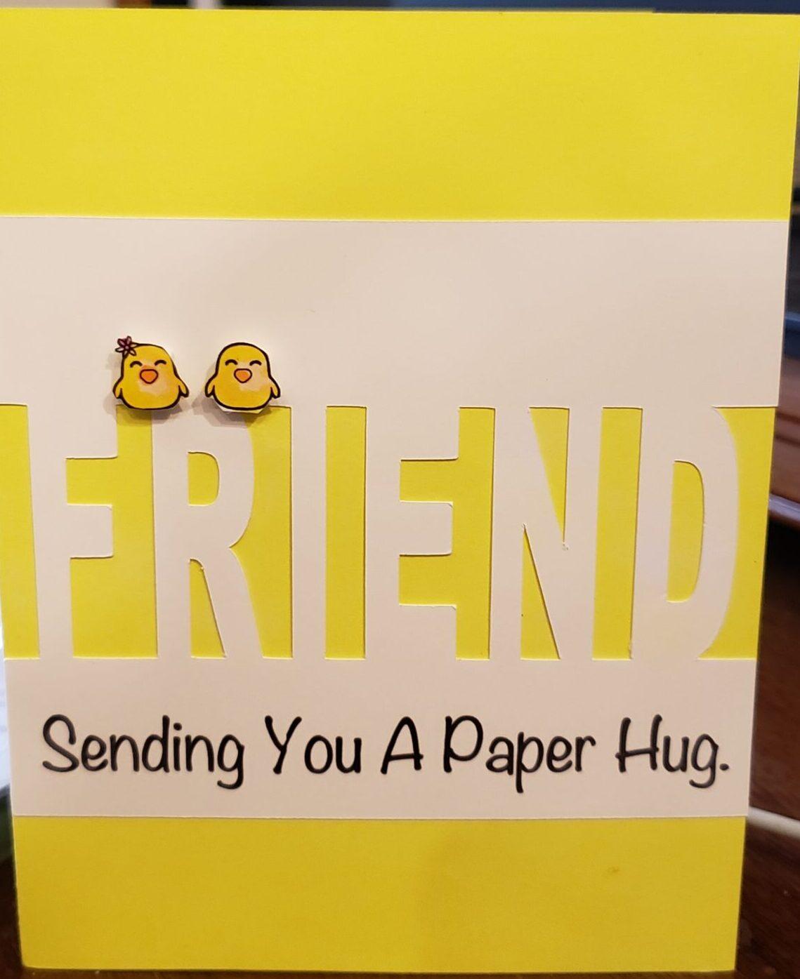 sending a paper hug